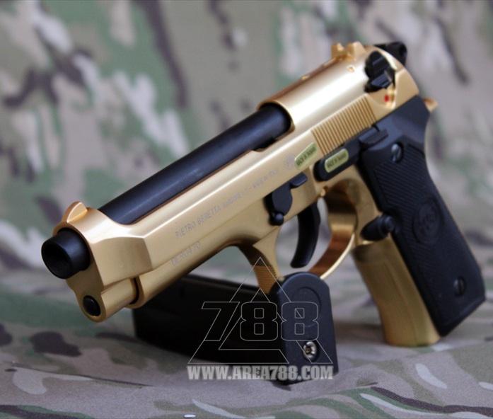 We M9 Beretta Gold Gbb 6mm Area 788 Menjual Aksesoris